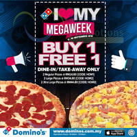 Read more about Domino's Pizza Buy 1 Free 1 Coupon Codes 8 - 16 Sep 2014
