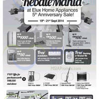 Read more about Electrolux Rebate Mania 5th Anniversary Sale 19 - 21 Sep 2014