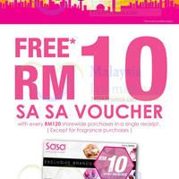 Read more about Sasa Free RM10 Cash Voucher Promo 15 - 30 Sep 2014