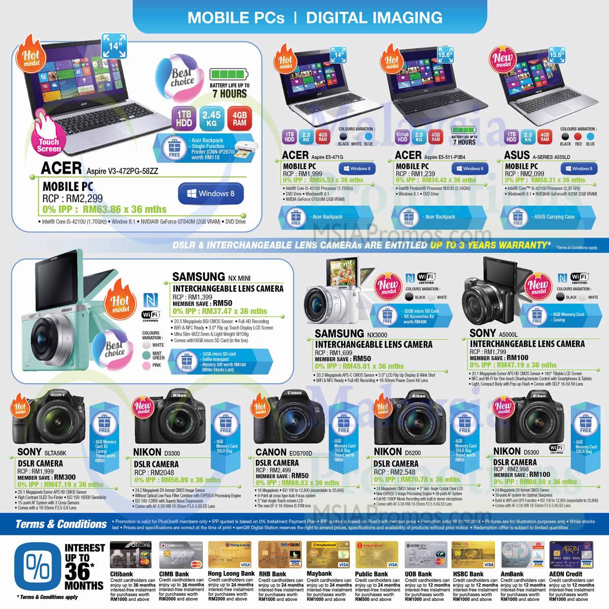 Notebook samsung format - Notebooks Digital Cameras Sony Samsung Acer Asus Nikon Canon