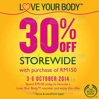 Read more about The Body Shop 30% OFF Storewide SALE For Members 3 - 6 Oct 2014