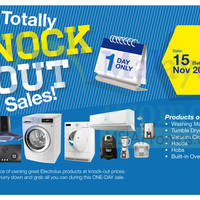 Read more about Electrolux Warehouse Sale Totally Knock Out Sale 15 Nov 2014