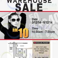 Read more about Focus Point Warehouse Sale @ Petaling Jaya 3 - 6 Dec 2014