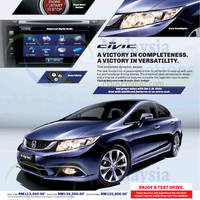 Read more about Honda Civic 1.8S, Civic 2.0S & Civic 2.0 Navi Offers 18 Nov 2014