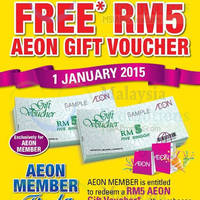 Read more about Aeon BiG Spend RM100 & Get FREE RM5 Voucher 1 Jan 2015