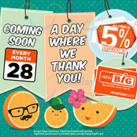 Read more about Aeon BIG 5% Off Storewide Member Promo 28 Oct 2015