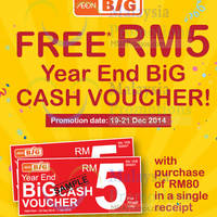 Read more about Aeon BiG Spend RM80 & Get FREE RM5 Voucher 19 - 21 Dec 2014