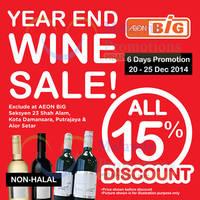 Read more about Aeon BiG Wines SALE 20 - 25 Dec 2014