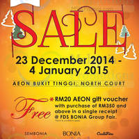 Read more about Bonia Sale @ AEON Bukit Tinggi 23 Dec 2014 - 4 Jan 2015