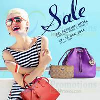 Read more about Celebrity Wearhouz Designer Handbags Sale @ Sri Petaling Hotel 27 - 28 Dec 2014
