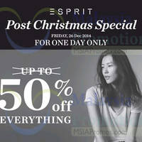 Read more about Esprit 50% OFF Storewide 1-Day Promo 26 Dec 2014