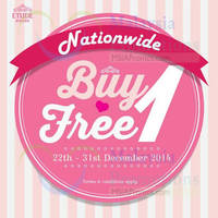 Read more about Etude House Buy 1 Get 1 FREE Promo @ Nationwide 22 - 31 Dec 2014