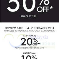 Read more about Guess Sale From 4 Dec 2014