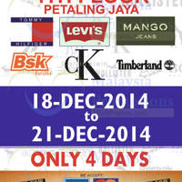 Read more about Branded Apparels Warehouse SALE @ Jaya Shopping Centre 18 - 21 Dec 2014