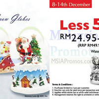 Read more about Memory Lane 50% OFF Christmas Snow Globes Promo 8 - 14 Dec 2014