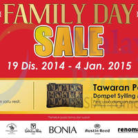 Read more about Bonia Family Day Sale @ SACC Mall 19 Dec 2014 - 4 Jan 2015