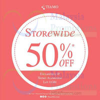 Read more about Tiamo 50% Storewide Sale 15 Dec 2014 - 4 Jan 2015