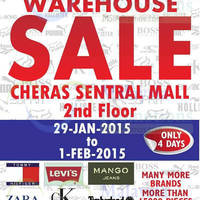 Read more about Big Brand Fashion Branded Apparel Warehouse Sale @ Hotel Sri Petaling 29 Jan - 1 Feb 2015
