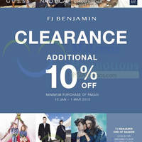 Read more about FJ Benjamin Clearance Sale @ Centro Mall 10 Jan - 1 Mar 2015