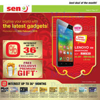 Read more about SenQ Smartphones, Digital Cameras & Other Offers 1 - 28 Feb 2015