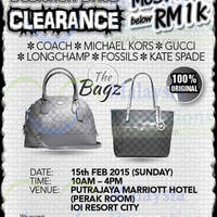 Read more about The Bagz Designer Bags Clearance @ Putrajaya Marriott Hotel 15 Feb 2015