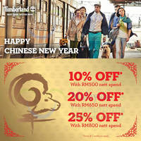 Read more about Timberland Spend RM500 & Get 20% OFF CNY Sale 17 Feb 2015