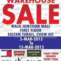 Read more about Big Brand Fashion Branded Apparel Warehouse Sale @ Maju Junction Mall 5 - 15 Mar 2015