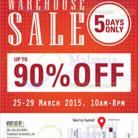 Read more about Bonia, Elianto & Tiamo Warehouse Sale @ Cheras 25 - 29 Mar 2015