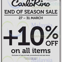 Read more about Carlo Rino End of Season Sale 27 - 31 Mar 2015