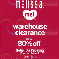 Read more about Jetz Esprit, Melissa & Mel Warehouse Clearance @ Hotel Sri Petaling 19 - 29 Mar 2015