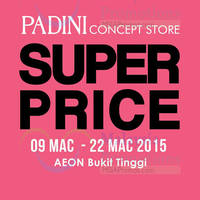Read more about Padini Group Fair @ AEON Bukit Tinggi 13 - 22 Mar 2015