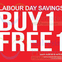 Read more about Padini Buy 1 Free 1 Labour Day Promo 1 - 4 May 2015