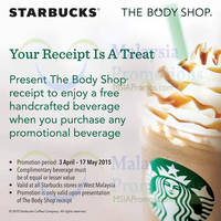 Read more about Starbucks Buy 1 FREE 1 Beverage @ West Malaysia 3 Apr - 17 May 2015