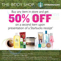Read more about The Body Shop 50% Off 2nd Item With Starbucks Receipt 3 Apr - 17 May 2015