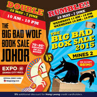 Read more about Big Bad Wolf Book Sale Expo @ Danga City Mall 28 May - 7 Jun 2015