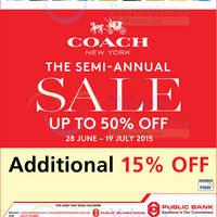 Read more about Coach Semi-Annual SALE 30 Jun - 19 Jul 2015