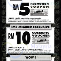 Read more about Isetan Spend RM100 & Get RM5 Coupon 26 - 30 Jun 2015