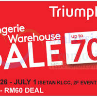 Read more about Triumph Lingerie Warehouse Sale @ Isetan KLCC 27 Jun - 1 Jul 2015