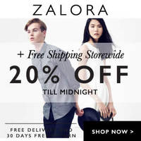 Read more about Zalora 20% OFF Storewide & FREE Shipping Coupon Code (NO Min Spend) 28 Sep 2015