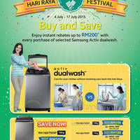 Read more about Samsung Washers Promo Offers 13 - 17 Jul 2015