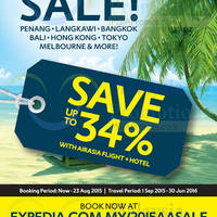 Read more about Expedia Exclusive Sale 18 - 23 Aug 2015