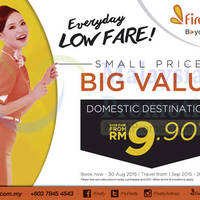 Read more about Firefly From RM9.90 Domestic Destinations Promo 19 - 30 Aug 2015
