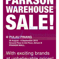 Read more about Parkson Warehouse Sale @ Penang 20 Aug - 6 Sep 2015