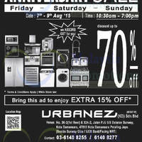Read more about Urbanez Showroom Anniversary Sale 7 - 9 Aug 2015
