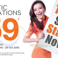 Read more about Firefly RM59 Domestic Destinations Promo 14 - 20 Sep 2015