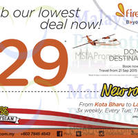 Read more about Firefly RM29 Domestic Destinations Promo 7 - 11 Sep 2015