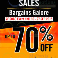 Read more about KL Sogo Malaysia Sports & Lifestyle Bargains Galore 16 - 27 Sep 2015