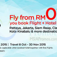 Air Asia Go Book Hotel & Fly From RM0 Promo 5 - 11 Oct 2015