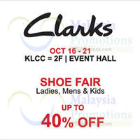 Read more about Clarks Shoe Fair @ Isetan KLCC 16 - 21 Oct 2015