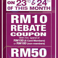 Read more about KL Sogo Spend RM180 & Get FREE RM10 Rebate Coupon 23 - 24 Oct 2015